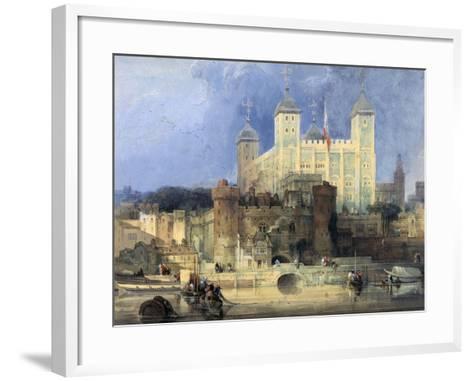 Tower of London-David Roberts-Framed Art Print