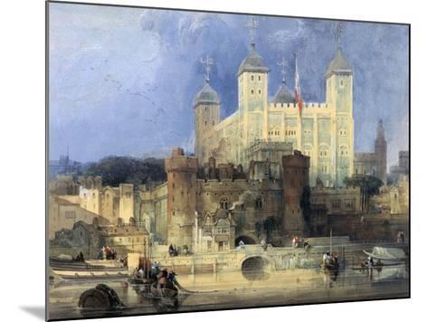 Tower of London-David Roberts-Mounted Giclee Print