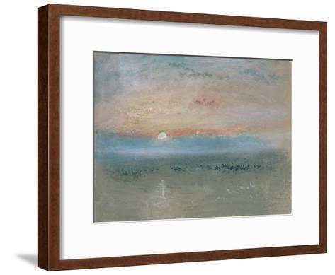 Sunset, C.1830-J^ M^ W^ Turner-Framed Art Print