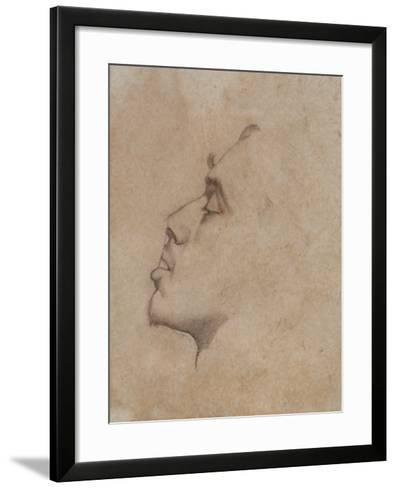 Portrait Head of Dante Gabriel Rossetti (1828-82)-John Everett Millais-Framed Art Print
