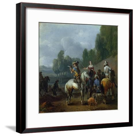 A Hawking Party-Philips Wouwermans Or Wouwerman-Framed Art Print