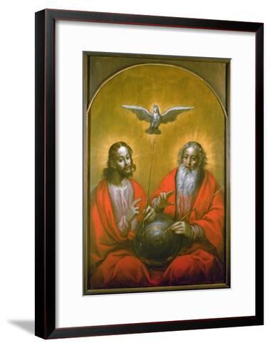 The Holy Spirit with a Model of Ptolemy's World, 1610-Hermann Han-Framed Art Print