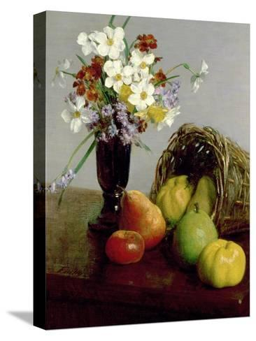 Fruits and Flowers, 1866-Henri Fantin-Latour-Stretched Canvas Print