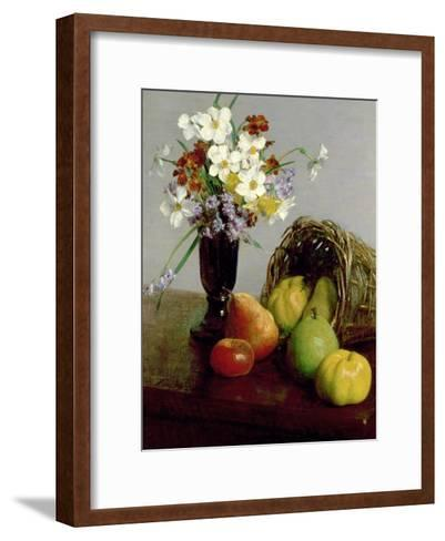 Fruits and Flowers, 1866-Henri Fantin-Latour-Framed Art Print