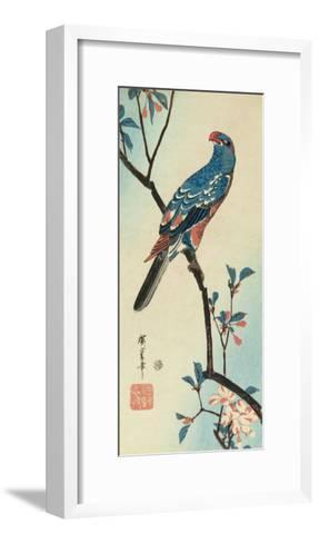 Parrot on a Branch-Ando Hiroshige-Framed Art Print