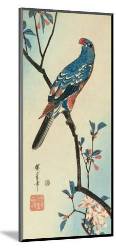 Parrot on a Branch-Ando Hiroshige-Mounted Giclee Print