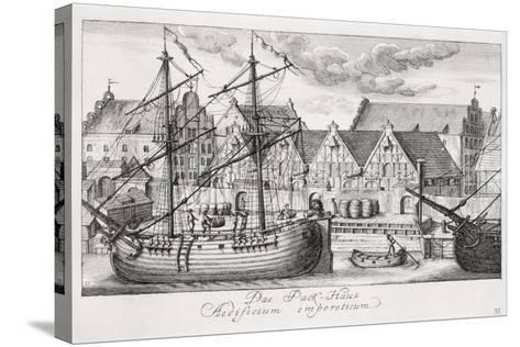Loading at the Granary Island, from 'Fifty Views of Gdansk', Engraved by Matthaeus Deisch…-or Lormann, Friedrich Anton Lohrmann-Stretched Canvas Print
