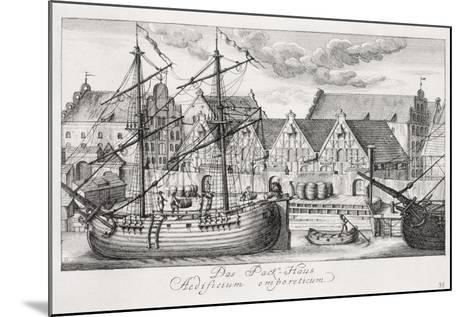 Loading at the Granary Island, from 'Fifty Views of Gdansk', Engraved by Matthaeus Deisch…-or Lormann, Friedrich Anton Lohrmann-Mounted Giclee Print