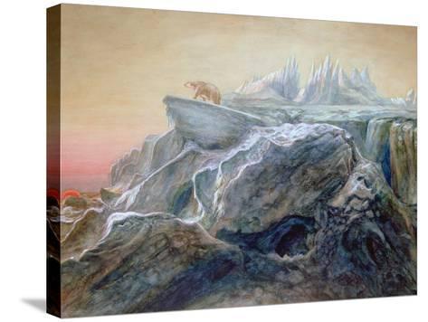 Polar Bear on an Iceberg-William Bradford-Stretched Canvas Print