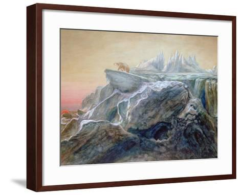 Polar Bear on an Iceberg-William Bradford-Framed Art Print
