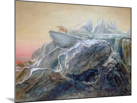 Polar Bear on an Iceberg-William Bradford-Mounted Giclee Print