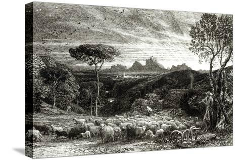 Opening the Fold, Early Morning, 1880-Samuel Palmer-Stretched Canvas Print