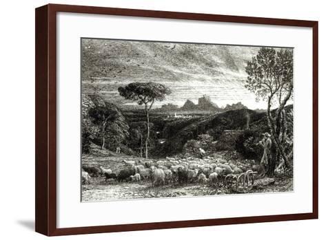 Opening the Fold, Early Morning, 1880-Samuel Palmer-Framed Art Print