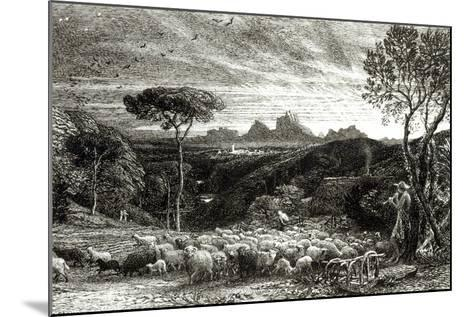 Opening the Fold, Early Morning, 1880-Samuel Palmer-Mounted Photographic Print