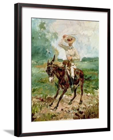 Raoul Tapie De Celeyran (1868-1937) on a Donkey-Henri de Toulouse-Lautrec-Framed Art Print