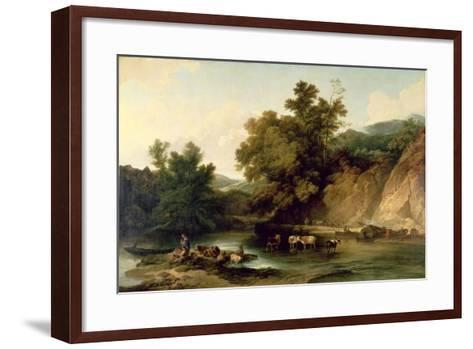 The River Wye at Tintern Abbey, 1805-Philip James De Loutherbourg-Framed Art Print
