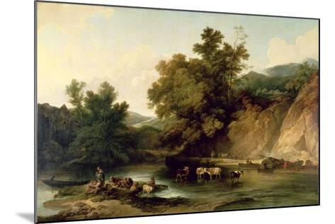 The River Wye at Tintern Abbey, 1805-Philip James De Loutherbourg-Mounted Giclee Print