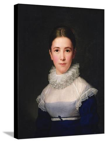 Dortrait of Lina Groger, the Foster Daughter of the Artist, 1815-Friedrich Carl Groger-Stretched Canvas Print