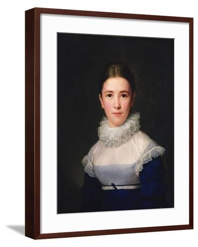 Dortrait of Lina Groger, the Foster Daughter of the Artist, 1815-Friedrich Carl Groger-Framed Art Print