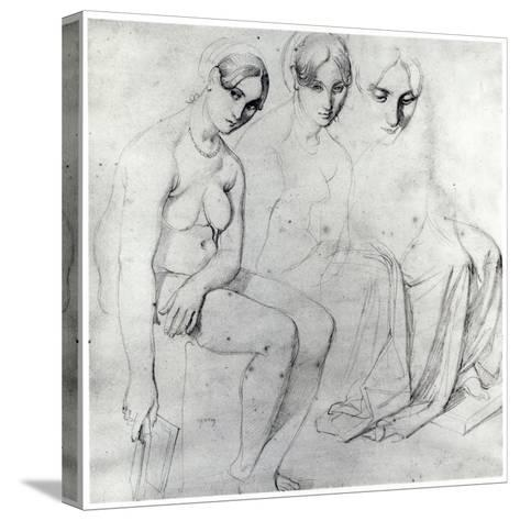 Study for Francesca Da Rimini-Jean-Auguste-Dominique Ingres-Stretched Canvas Print