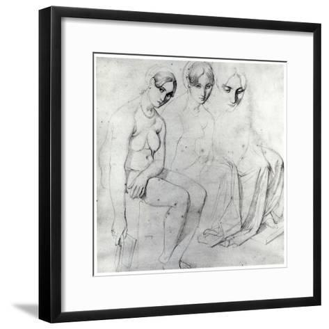 Study for Francesca Da Rimini-Jean-Auguste-Dominique Ingres-Framed Art Print