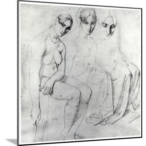 Study for Francesca Da Rimini-Jean-Auguste-Dominique Ingres-Mounted Giclee Print