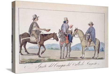 Gente, Del Campo Del Valle De Bogota, C.1840-Joseph Pio Dominguez-Stretched Canvas Print