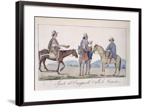 Gente, Del Campo Del Valle De Bogota, C.1840-Joseph Pio Dominguez-Framed Art Print