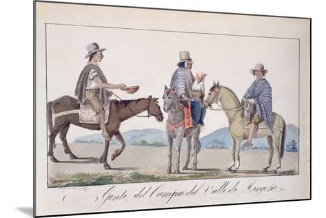 Gente, Del Campo Del Valle De Bogota, C.1840-Joseph Pio Dominguez-Mounted Giclee Print