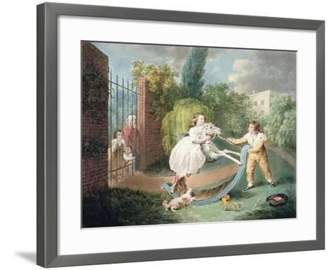 The Rocking Horse, C.1793-James Ward-Framed Art Print