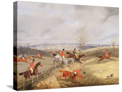Hunting Scene, Drawing the Cover-Henry Thomas Alken-Stretched Canvas Print