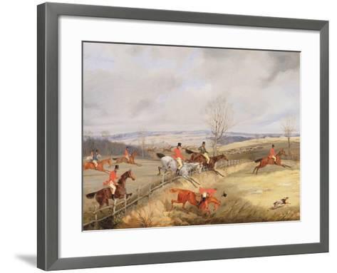 Hunting Scene, Drawing the Cover-Henry Thomas Alken-Framed Art Print