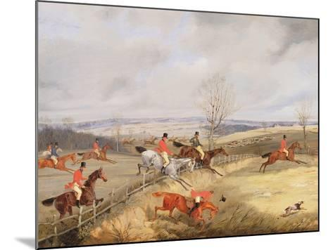 Hunting Scene, Drawing the Cover-Henry Thomas Alken-Mounted Giclee Print