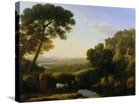 A Sunset or Landscape with Argus Guarding Io-Claude Lorraine-Stretched Canvas Print