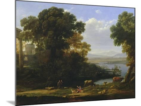 Classical River Scene with a View of a Town-Claude Lorraine-Mounted Giclee Print