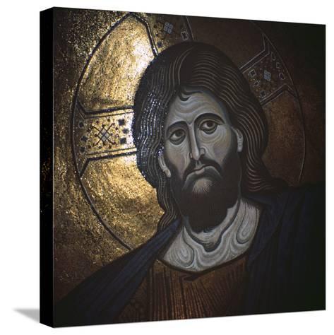 Christ Pantocrator, Byzantine, 12th Century--Stretched Canvas Print