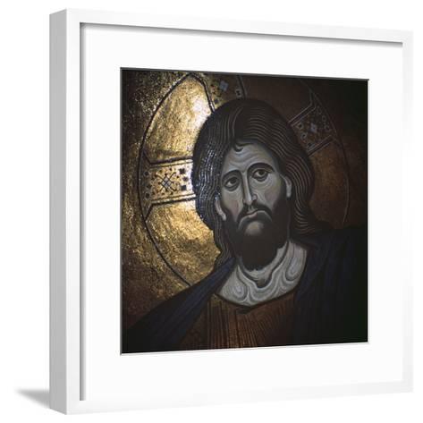 Christ Pantocrator, Byzantine, 12th Century--Framed Art Print