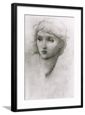 Study of a Girl's Head-Edward Burne-Jones-Framed Art Print