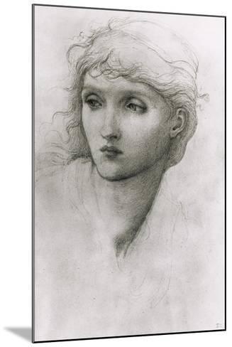 Study of a Girl's Head-Edward Burne-Jones-Mounted Giclee Print