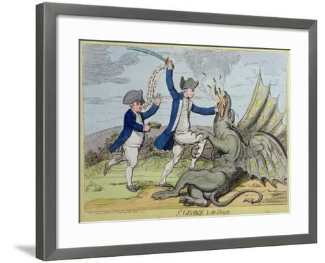 St. George and the Dragon, Published by Hannah Humphrey in 1782-James Gillray-Framed Art Print