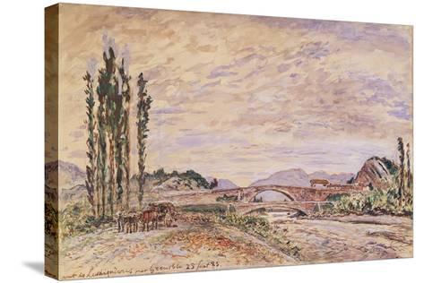 The Pont De Lesdiguieres, Near Grenoble, 1883-Johan-Barthold Jongkind-Stretched Canvas Print