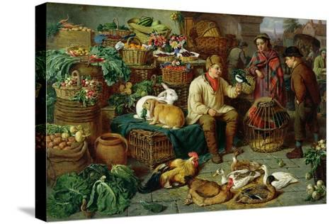 Market Scene-Henry Charles Bryant-Stretched Canvas Print