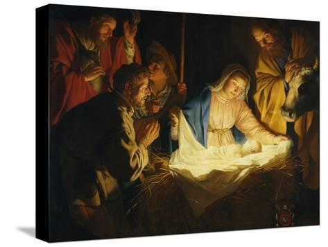 The Adoration of the Shepherds, 1622-Gerrit van Honthorst-Stretched Canvas Print