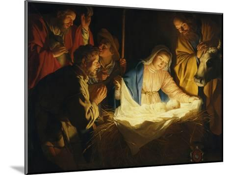 The Adoration of the Shepherds, 1622-Gerrit van Honthorst-Mounted Giclee Print