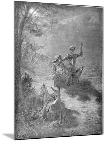 A Nocturnal Discourse, from 'Don Quixote De La Mancha' by Miguel Cervantes (1547-1616) Engraved…-Gustave Dor?-Mounted Giclee Print