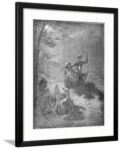 A Nocturnal Discourse, from 'Don Quixote De La Mancha' by Miguel Cervantes (1547-1616) Engraved…-Gustave Dor?-Framed Art Print