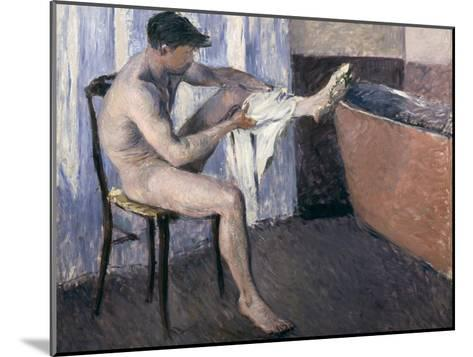 Man Drying His Leg-Gustave Caillebotte-Mounted Giclee Print