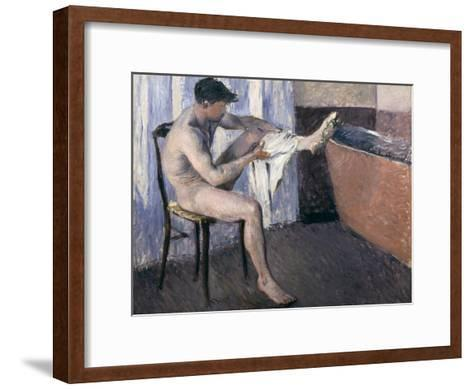 Man Drying His Leg-Gustave Caillebotte-Framed Art Print