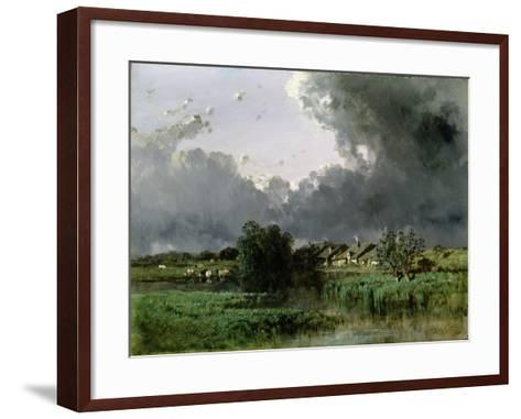 Hamlet at the Edge of a Pond, 1849-Eugene Ciceri-Framed Art Print