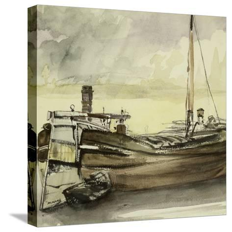 The Barge-Edouard Manet-Stretched Canvas Print